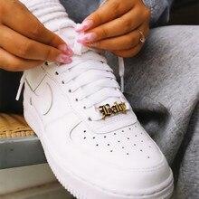 Новая Мода Пользовательские Имя Обувные Пряжки Персонализированные Ювелирные Изделия Нержавеющей Стали Кнопка Лучший Друг Подарок Шильдик Пряжка 2020