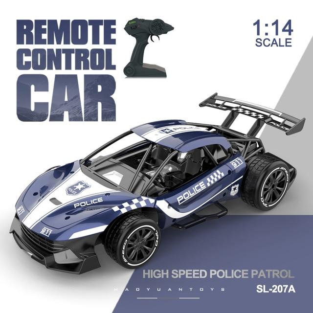 מכונית מירוץ על שלט ממתכת 2.4G 4CH 1:24 -  דגם משטרה | מגיע בגדלים 1:14/1:16/1:24 1