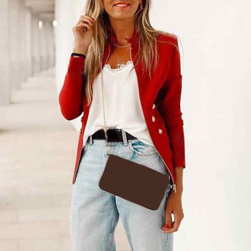 Nouveauté femmes Blazers mode femmes printemps solide simplicité Cardigan manteaux dames col montant mince formel veste d'extérieur