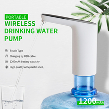 Portable Mini Water Pump Touch Type Wireless Rechargeable Electric Dispenser ABS plastic shell Drinking Water Pump With USB