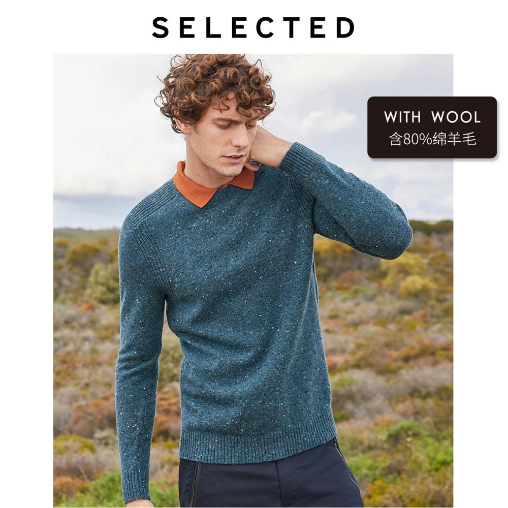 SELECTED Winter Wool-blend Pullover Sweater Men's Round Neckline Knitted Clothes LAB | 419425510
