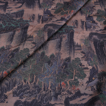Authentic plain crepe cloud satin scoped Kraft clothing mulberry silk fabric