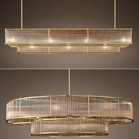 E14 LED Retro Amerikanischen Kupfer Goldene Runde Lineare Anhänger Lichter. Anhänger licht Suspension Leuchte Lampen Für Esszimmer