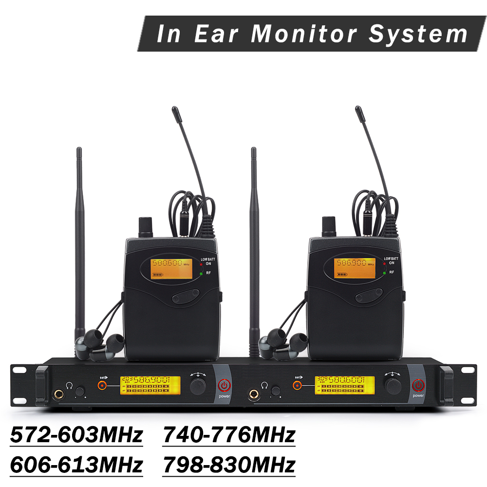 In Ear Monitor UHF Wireless System SR2050 IEM Double transmitter Monitoring Bodypack Professional for Stage Performance