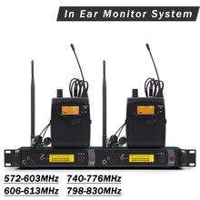 В ухо монитор UHF беспроводной системы SR2050 IEM Двойной передатчик мониторинга бодипак Профессиональный для сцены производительности