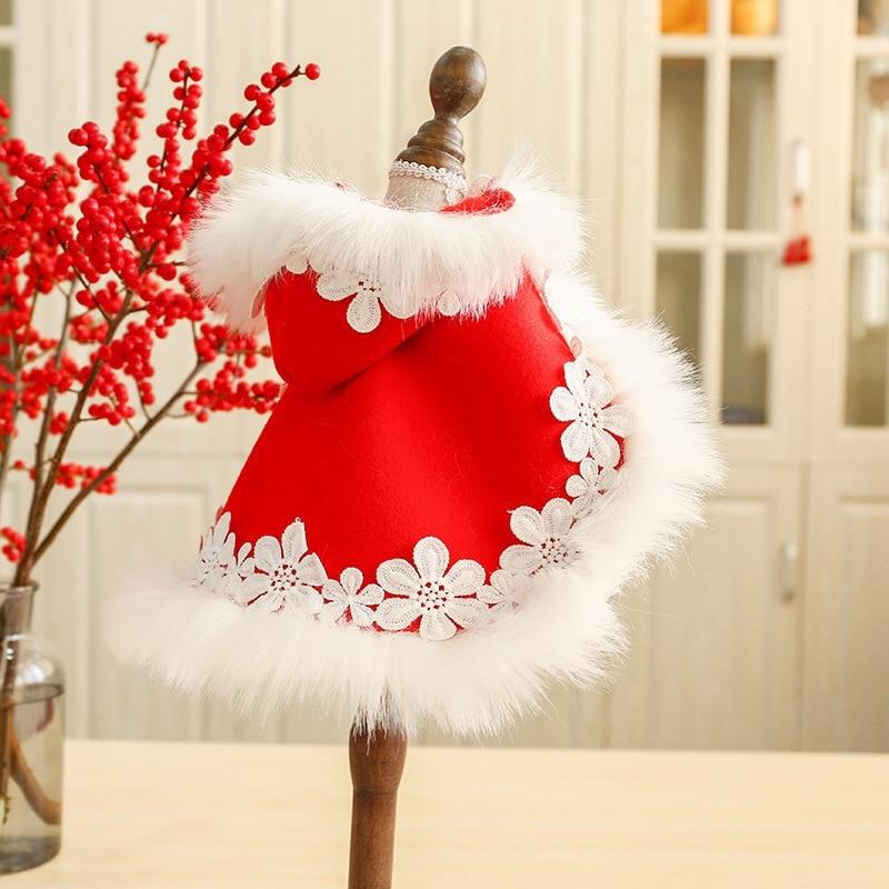 Французская собака породы бульдог одежда теплое пальто Зимняя Красная накидка для новогоднего мопса Bichon Chiwawa Рождественская одежда для щенков пальто и куртки|Пальто и куртки для собак|   | АлиЭкспресс