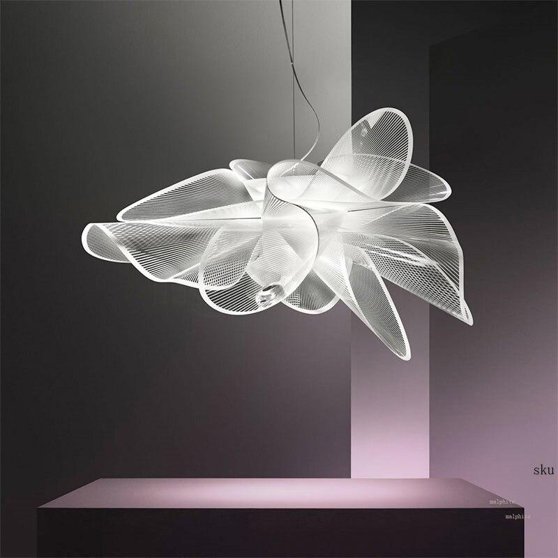 Nordic Slamp LED Pendant Lights Modern Living Room Bedroom Hanglamp Mesh Yarn Pendant Lamp Interior Industrial Decor Luminaire
