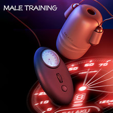Japonya erkek Glans egzersiz vibratör gecikmeli boşalma Masturbator kumandalı eğitim fincanı cep pussy LCD silikon malzeme