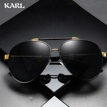 Classic Aviation Brand Designer Pilot Sunglasses Men Polarized  Driving Metal Frame Sun Glasses Coating Mirror Shades UV400