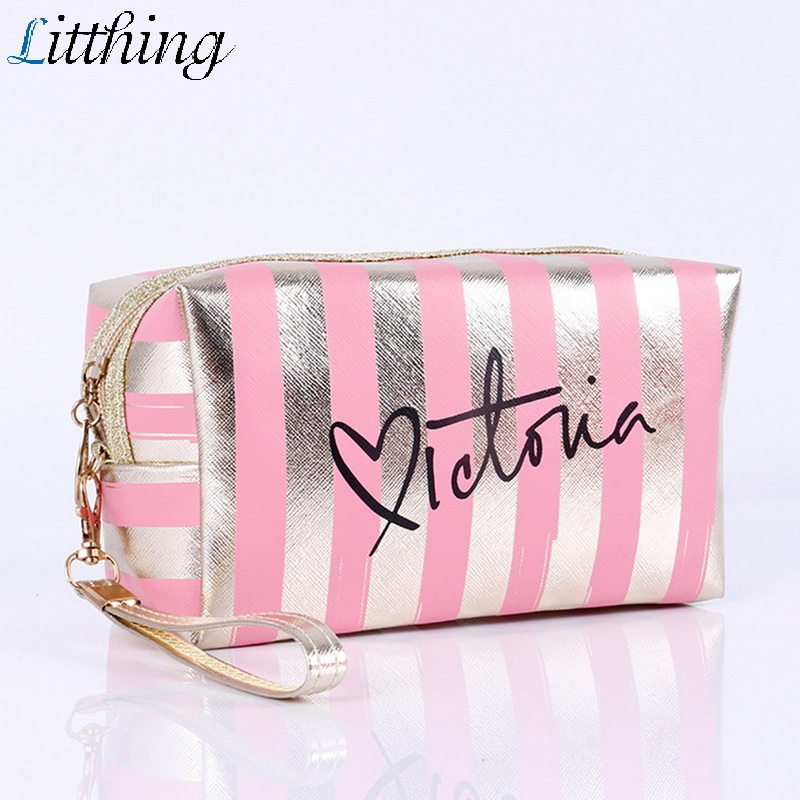 Litthing Fashion PU Leather Cosmetic Storage Bags 2019 New Women Make Up Bag PVC Pouch Wash Toiletry Bag Travel Organizer Case