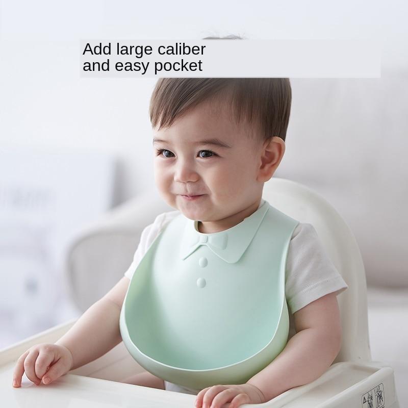 Newborn Soft Silicone Baby Bibs Feeding Saliva Towel Adjustable Burp Waterproof