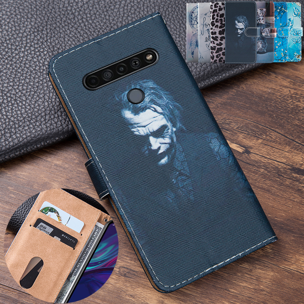 3D Embossing Clown Leather Flip Book Style Cover For LG K51S Case Phone Bag Card Case For LG K51S 6.5\