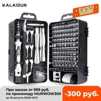 KALAIDUN Set di cacciaviti Set di cacciaviti cacciavite di precisione 135 In 1 Torx Hex chiave magnetica Set di punte per trapano Kit di utensili manuali di riparazione fai-da-te