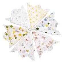 Детское полотенце s хлопок Детский носовой платок случайный цвет мягкий новорожденный младенец полотенце нагрудник для кормления квадратное полотенце s Мультфильм Слюнявчик