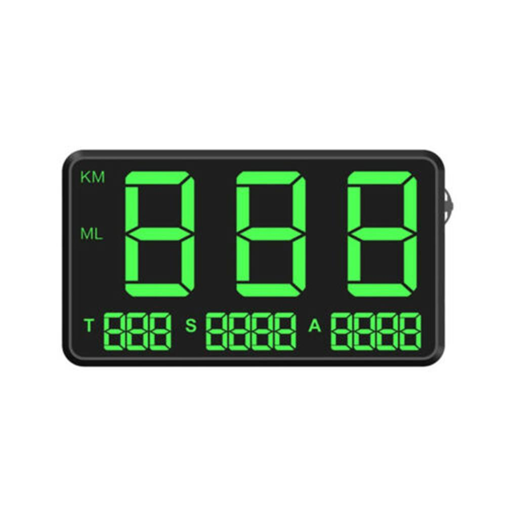 General Hud Head Display Gps Overspeed Alarm Mileage Statistics Head Display C80 Car Accessories