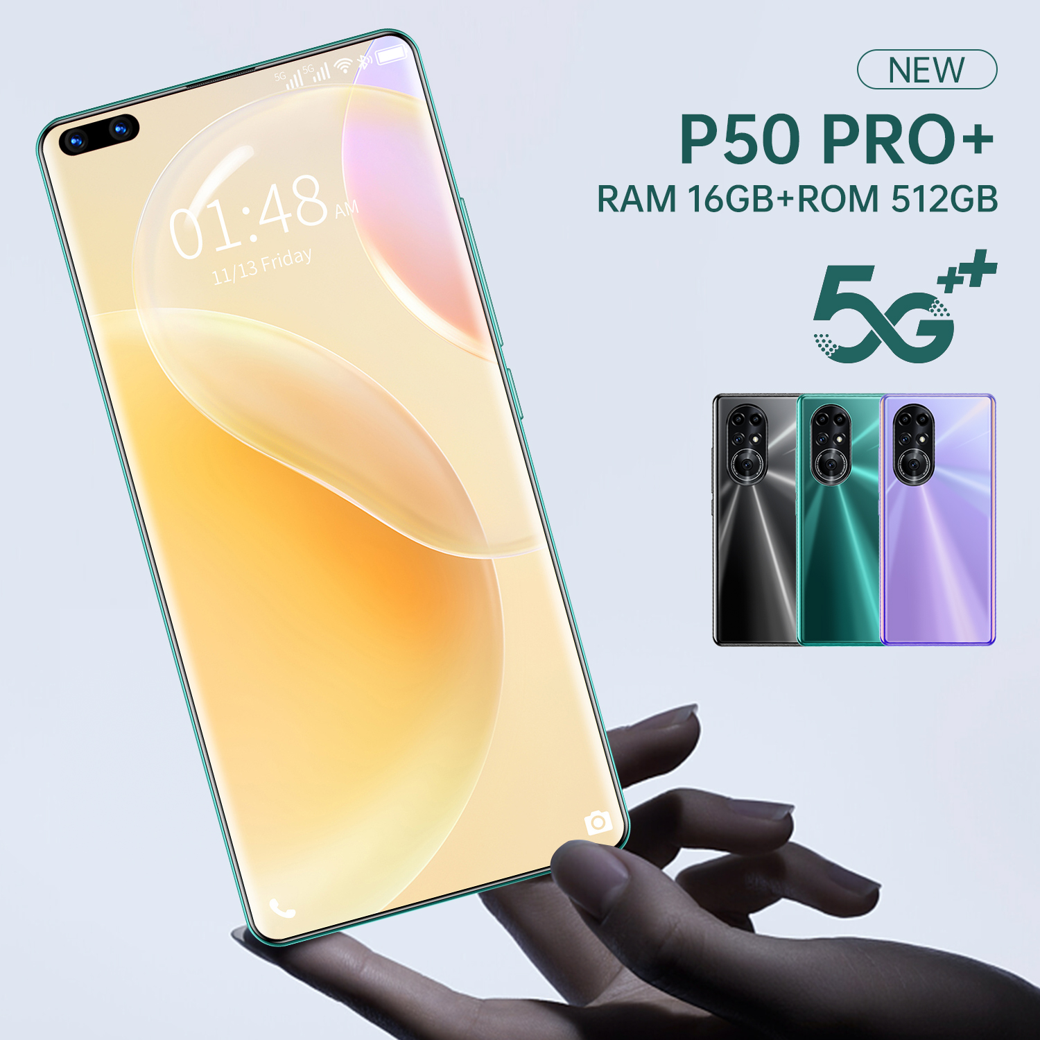 Global Version Newest P50 Pro+ 7.3