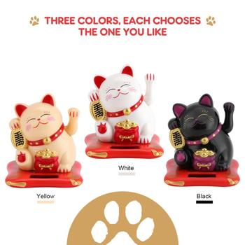 Cute Shaking Hands Lucky Cat Counter Home Car Decor Figurines Miniatures Wealth Personality Cute Fortune Crafts Ornament image