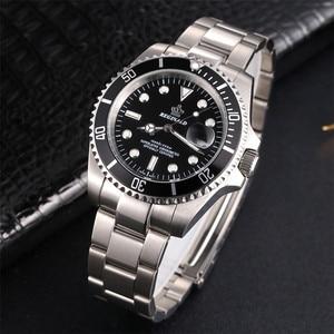 Image 3 - REGINALDนาฬิกาผู้ชายGMTหมุนได้ญี่ปุ่นMiyota 2115 Movtสแตนเลสสตีลนาฬิกาควอตซ์Relogio Masculino