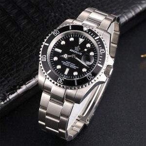 Image 3 - REGINALD Watch Men GMT Rotatable Bezel Japan Miyota 2115 Movt Full Stainless steel Quartz Watches relogio masculino