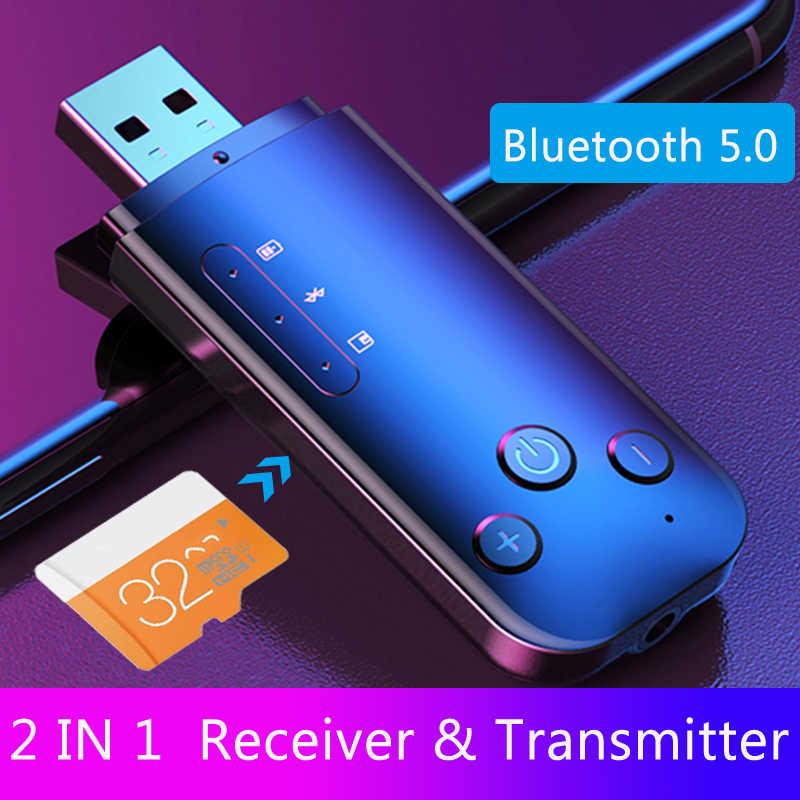 JINSERTA-adaptador AUX Bluetooth 5,0 para coche, receptor y transmisor de música de sonido estéreo de 3,5mm, Dongle inalámbrico para TV, PC y auriculares