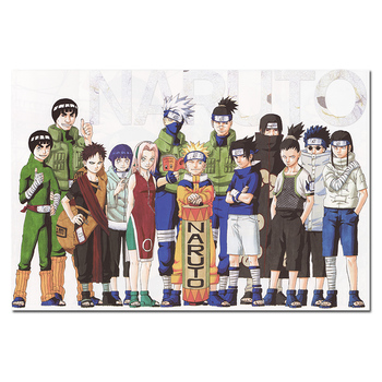 Anime cartel de Naruto y Manga pared imágenes artísticas personajes Sakura Haruno Kakashi Hatake Naruto Uzumaki estampados de tela