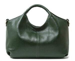 Женская сумка из натуральной бычьей кожи, мягкие сумки через плечо с длинным ремешком