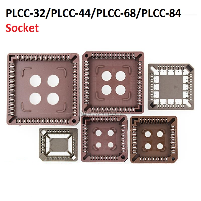 5PCS integrated circuit adapter IC SOCKET  PLCC 32 PLCC 44 PLCC 68 PLCC 84 TEST base PLCC32 PLCC44 PLCC68 PLCC84 TO dip SOP SMD-in Integrated Circuits from Electronic Components & Supplies