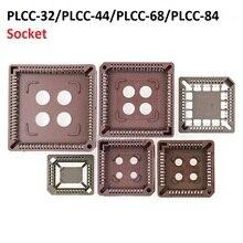 5PCS integrated circuit adapter IC SOCKET  PLCC 32 PLCC 44 PLCC 68 PLCC 84 TEST base PLCC32 PLCC44 PLCC68 PLCC84 TO dip SOP SMD