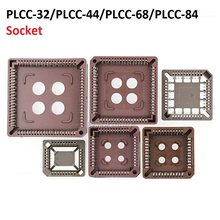 5PCS integrated circuit adapter IC SOCKET PLCC-32 PLCC-44 PLCC-68 PLCC-84 TEST base PLCC32 PLCC44 PLCC68 PLCC84 TO dip SOP SMD