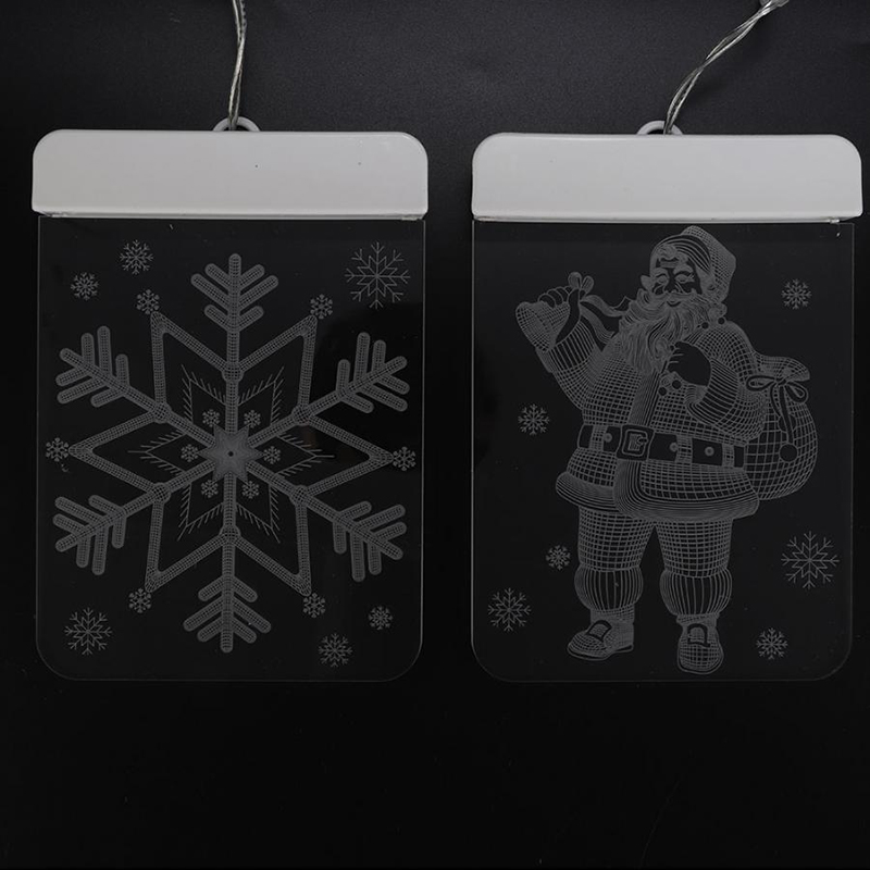 3D Decoration LED String Light USB Power Snowflake/Snowman/Christmas Tree/LED Ice Bar Lamp Decoration Night Light for Christmas