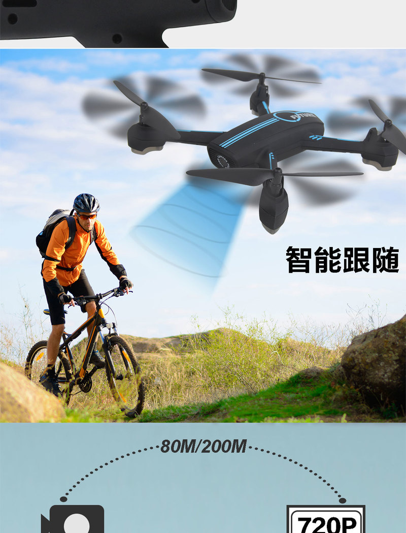 WIFI FPV RC Drone GPS Mining Point Drone 528 RC Quadcopter Full HD 720P Camera one key take off/landing/stop Stable Flight - 3