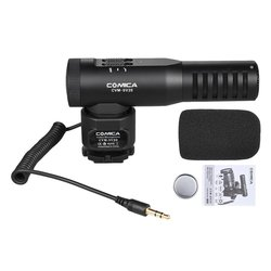 Comica CVM-SV20 Professional Full Metal Stereo on-camera Microphone System for DSLR camera smartphone