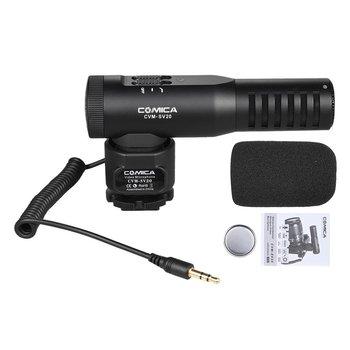 Comica CVM-SV20 sistema profesional de micrófono estéreo de Metal para cámara DSLR smartphone