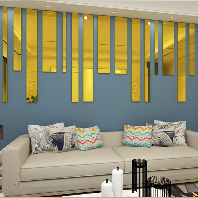 Simple-lines-Acrylic-3D-Wall-Stickers-Background-wall-decoration-Ceiling-waist-line-Living-room-dining-room (2)