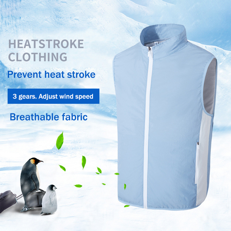 Image 2 - New USB Fan Cooling Hiking Vest Fishing Cycling Vest Air Conditioning Work Outdoors Quick Cooling Vest Summer Cooling Men/womenHiking Vests   -