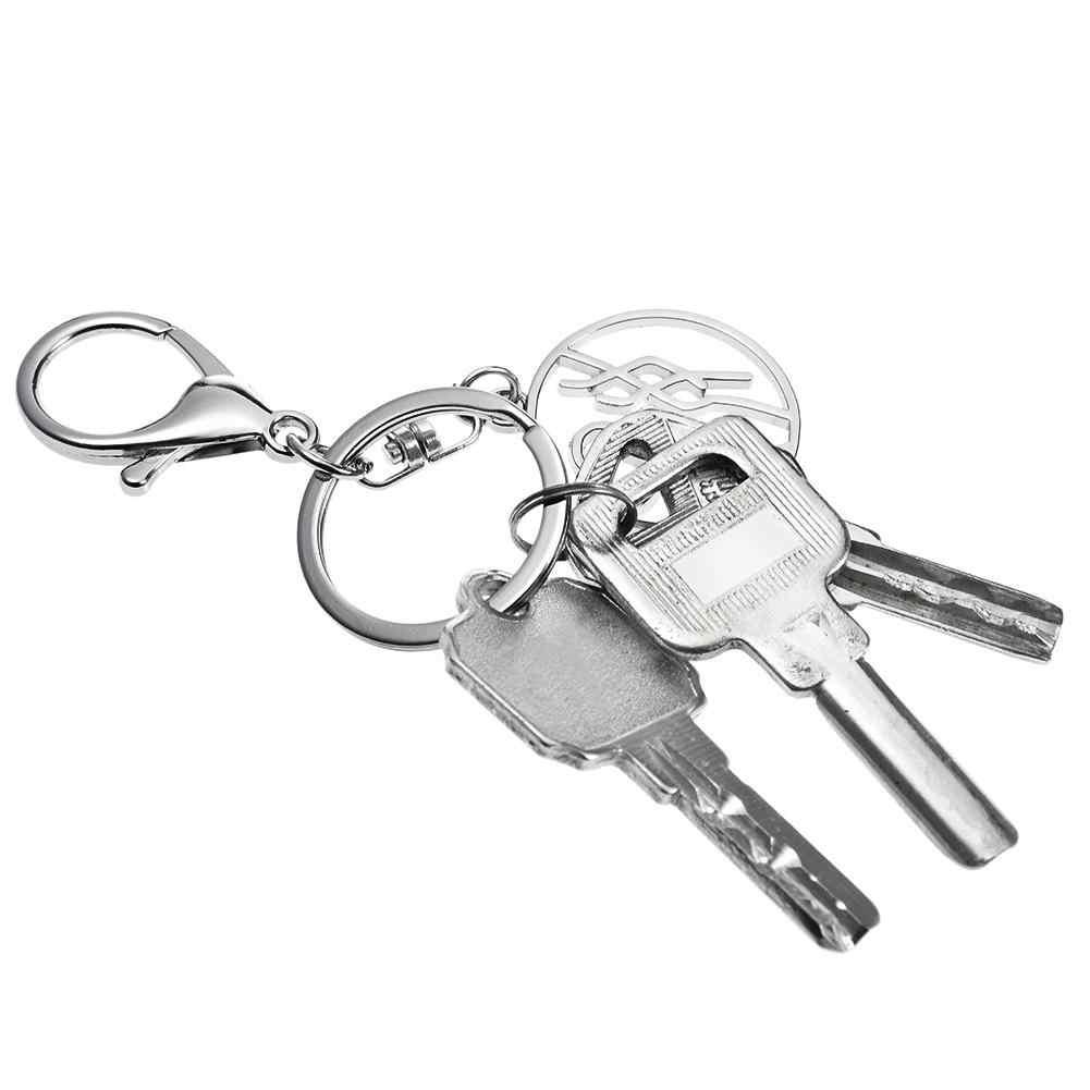 אופנה כסף Keychain מתכת דפוס חדשני אופנתי מפתח שרשרת עבור ארנקי תרמילי מגירת רכב מפתחות טבעת