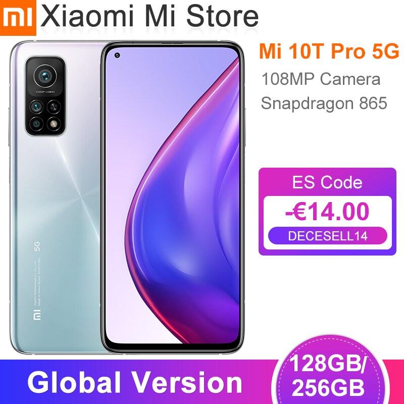 "Global Version Xiaomi Mi 10T Pro 8GB RAM 128/256GB ROM Smartphone Snapdragon 865 Octa Core 144Hz 108MP Camera 6.67"" DotDisplay|Cellphones| - AliExpress"