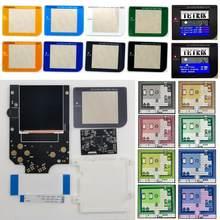 Tela colorida múltipla super osd versão rips v4 lcd alto brilho ips retroiluminação lcd kit para gameboy dmg gb dmg console