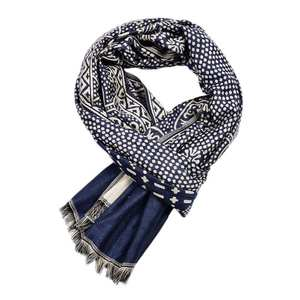 Men Scarves Fringe-S...