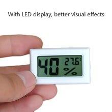 1pc novo prático mini digital lcd interno conveniente temperatura higrômetro sensor medidor de umidade termômetro higrômetro medidor