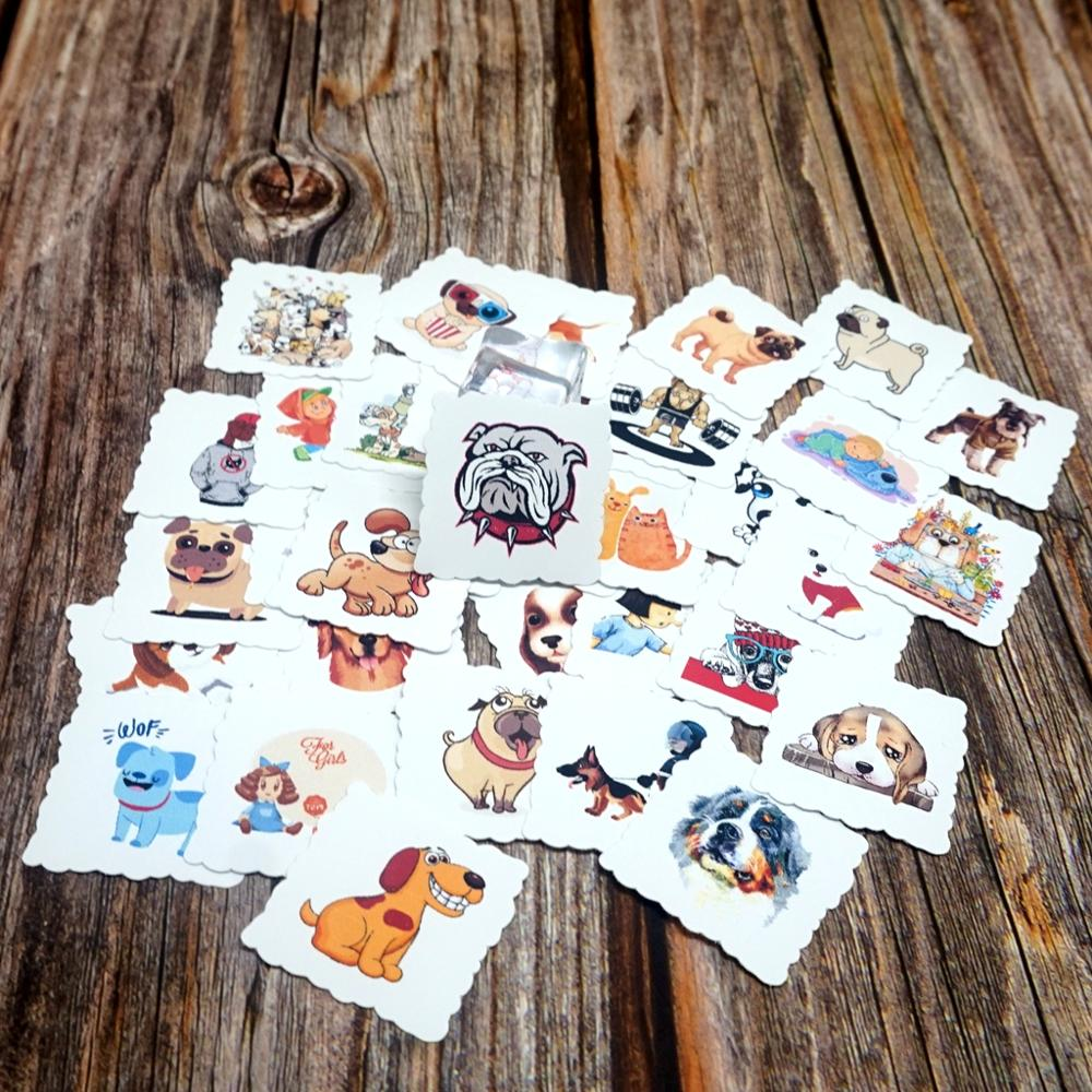 35pcs Cartoon Dog Decorative Waterproof Stickers Luggage Laptop Phone Stickers Diary Stationery Album Cute Animals Gift Stickers