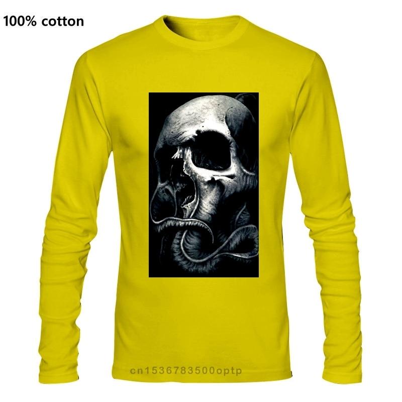 Sullen Clothing MenTyrrell Tee Tattoo Style Octopus Skull T-Shirt Badge Logo Comfortable t shirtCasual Long sleeve TEE