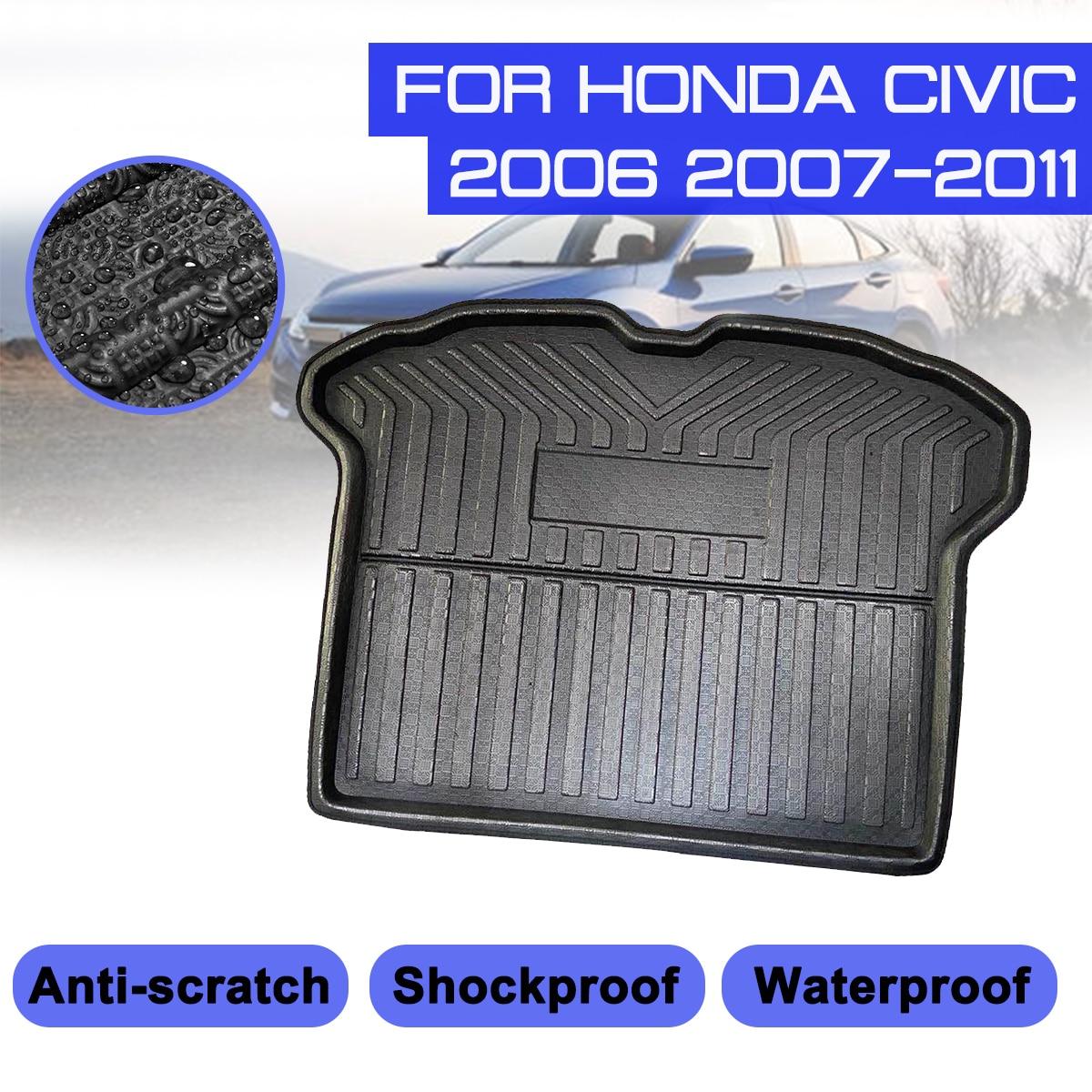 For Honda Civic 2006 2007 2008 2009 2010 2011 Car Floor Mat Carpet Rear Trunk Anti mud Cover|Floor Mats| |  - title=