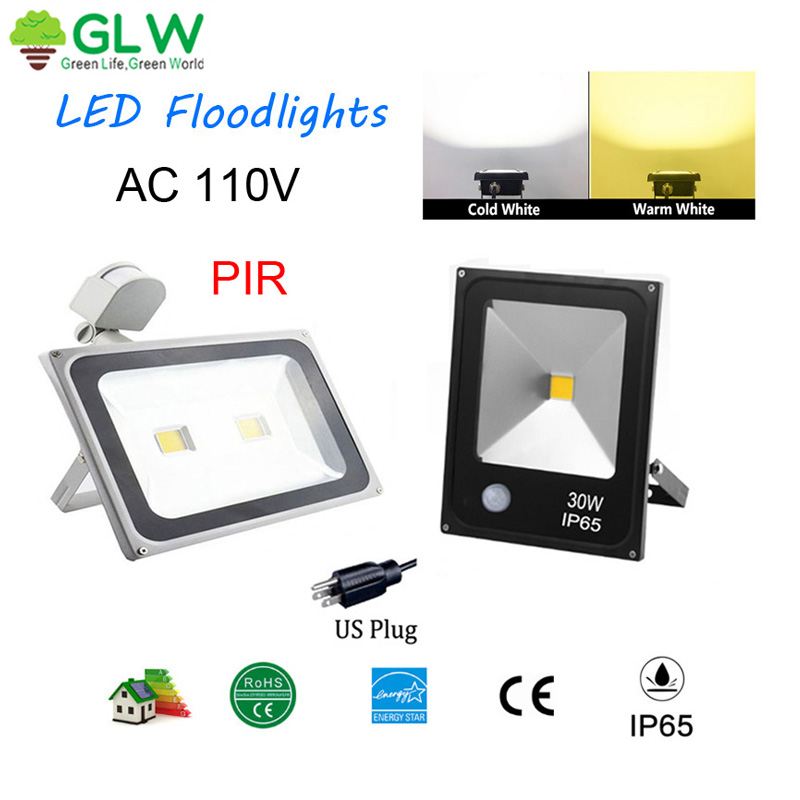 10W-300W LED Flood Light Outdoor Spotlight Garden Yard Landscape Lamp IP65 110V