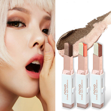 ZHENDUO 2 colors gradient  eye shadow stick Nude Shimmer Glitter Eye-modified pen makeup beauty