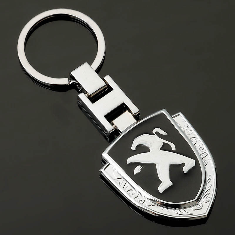 Car Keyring For <font><b>Peugeot</b></font> <font><b>208</b></font> 308 2008 408 5008 508 107 207 307 407 507 106 206 406 3008 4008 301 Accessories <font><b>Key</b></font> Holder Keychain image