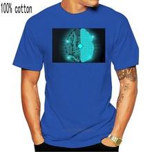 Cérebro de circuitos de alta tecnologia t dos homens-imagem por para a juventude de meia-idade camiseta de idade