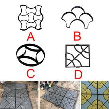 DIY ścieżka z tworzywa sztucznego zrobić formy ręcznie kostki cementowe formy ceglane Patio płyty betonowe ścieżki ozdoby ogrodowe ścieżka podjazd formy tanie tanio