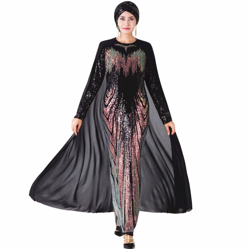 African Dresses For Women Sequined Africa Dress African Clothes Fashion Long Maxi Evening Dress Robe Africaine Femme 2020