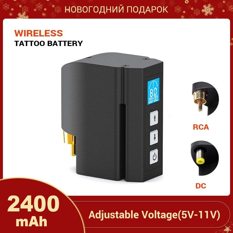 Stigma New Wireless Tattoo Power Supply DC & RCA Interface 2400mAH Lithium Battery Tattoo Machine Tattoo Supplies P198